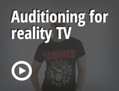 Auditioning for reality TV