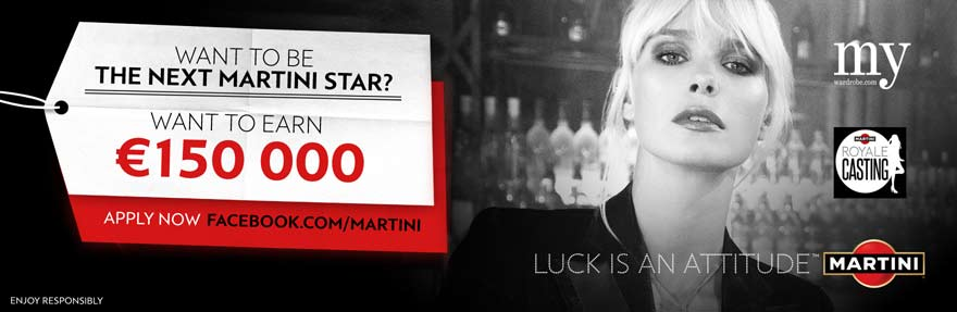 BE THE NEXT MARTINI STAR. Apply to the MARTINI ROYALE CASTING